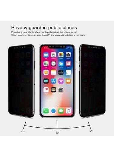 Microsonic Apple iPhone X Privacy 5D Gizlilik Filtreli Cam Ekran Koruyucu Siyah Siyah